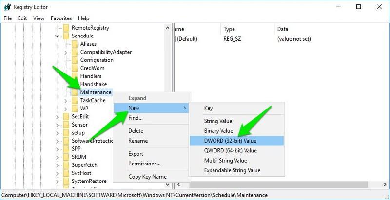 create dword entry