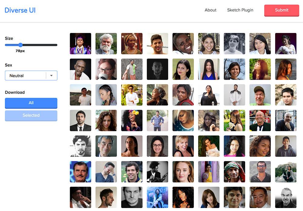 Diverse UI homepage