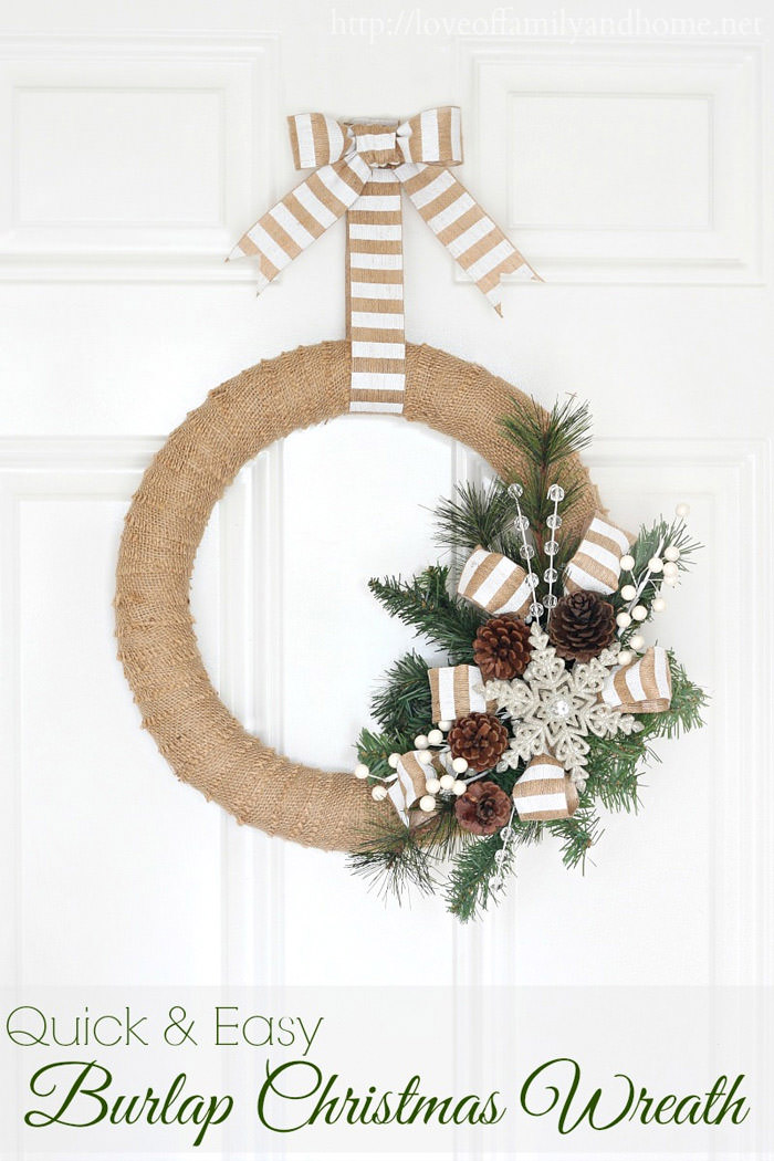 How To Create A Burlap Christmas Wreath