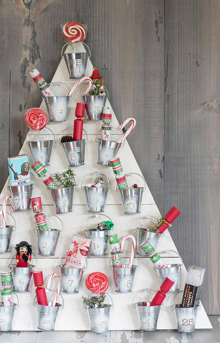 Christmas Decorations Craft Ideas Part - 24: How To Create A Wooden Advent Calendar