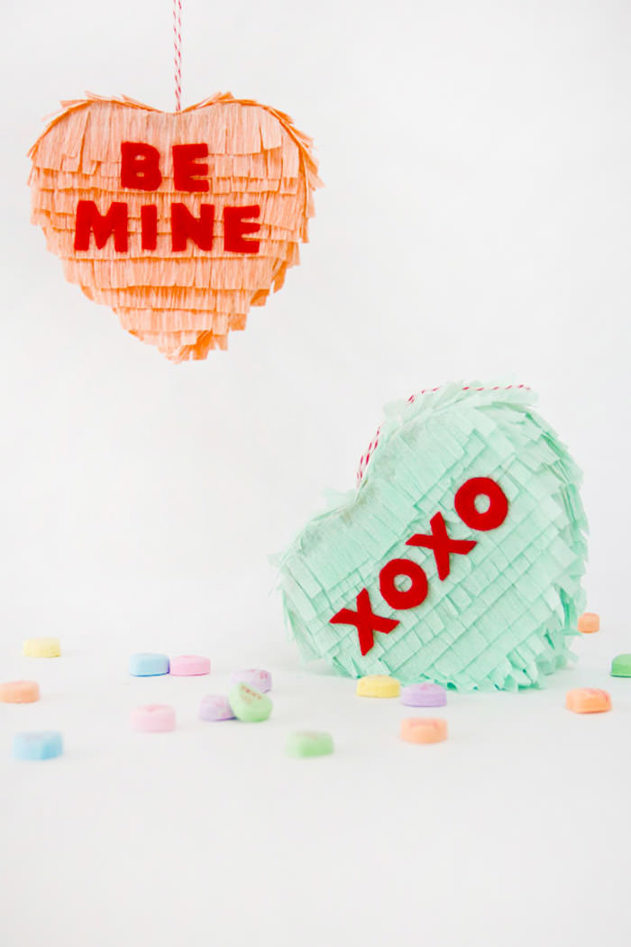 Conversation Heart Pinatas