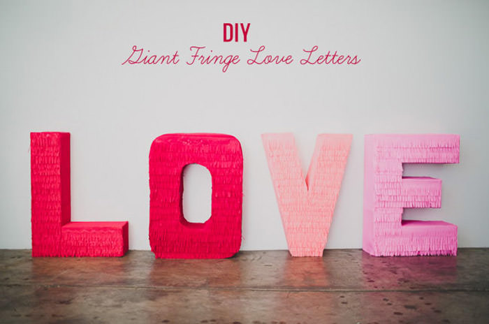 Giant Fringe Love Letters