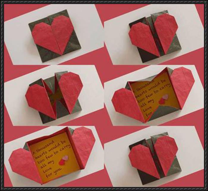 Heart Paper Origami Box
