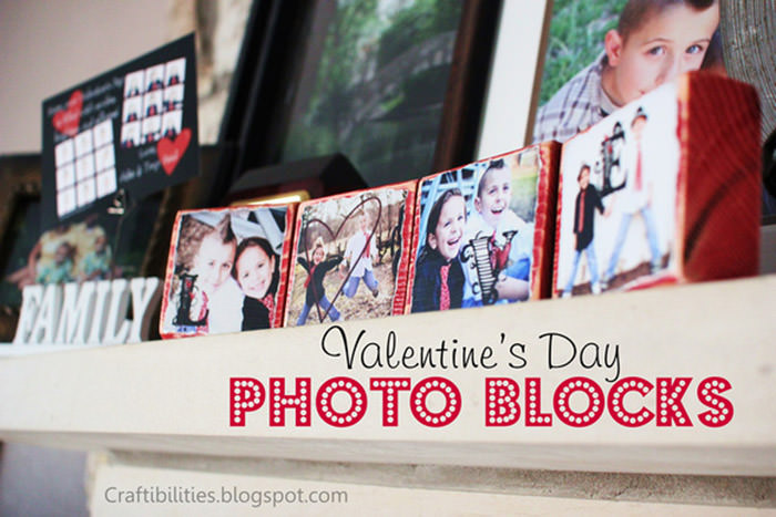 Valentines Day Photo Blocks