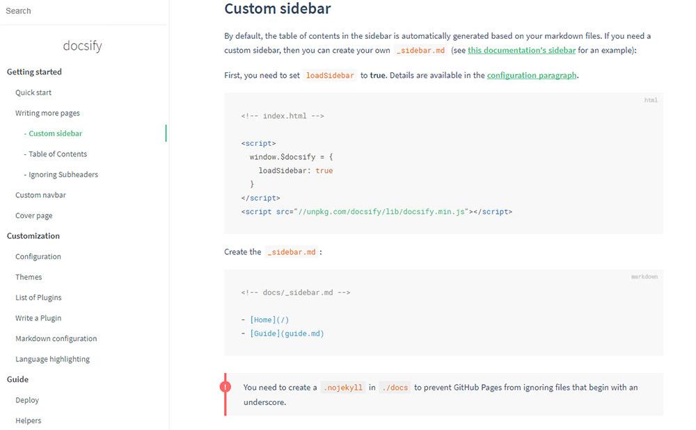 Docsify example documentation