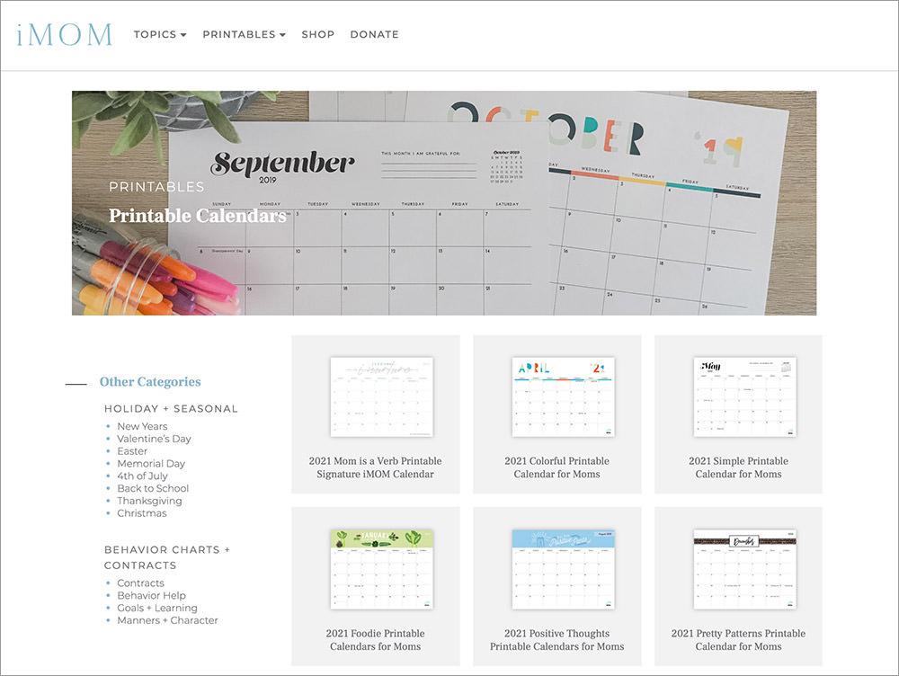 Imom Calendar 2022.10 Sites To Download Free Printable Calendar Templates Hongkiat