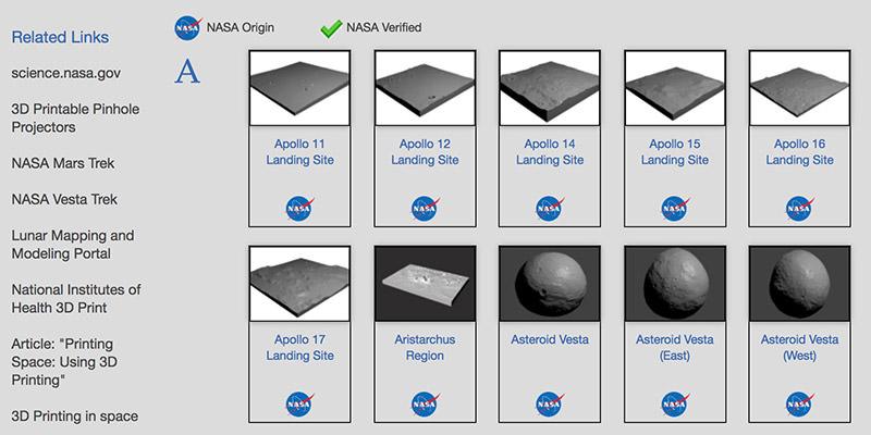 3D ресурсы от НАСА