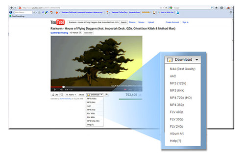 16 alternative ways to download online videos hongkiat its icon comes under the youtube video which shows a menu of available downloadable video formats choose the one you need and the download will start ccuart Choice Image