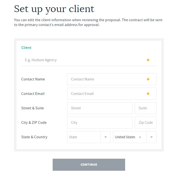 set up your client