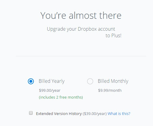 dropbox package