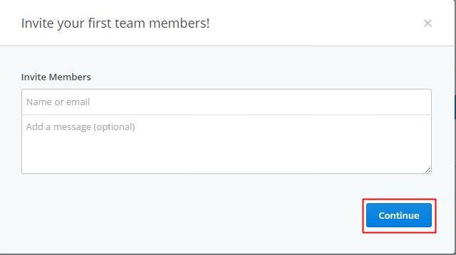 Invite members in Dropbox team