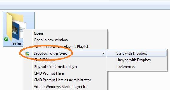 folder sync add on