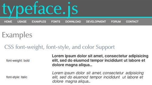 typeface.js