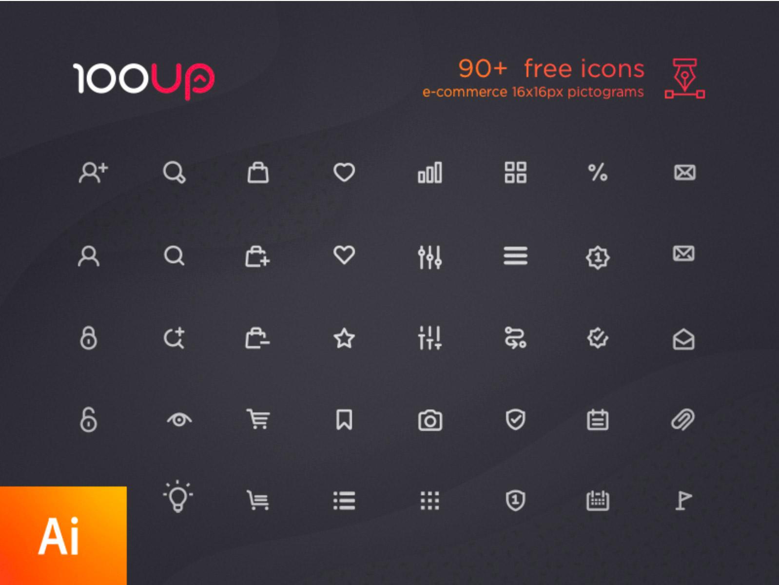 90-ecommerce-icons