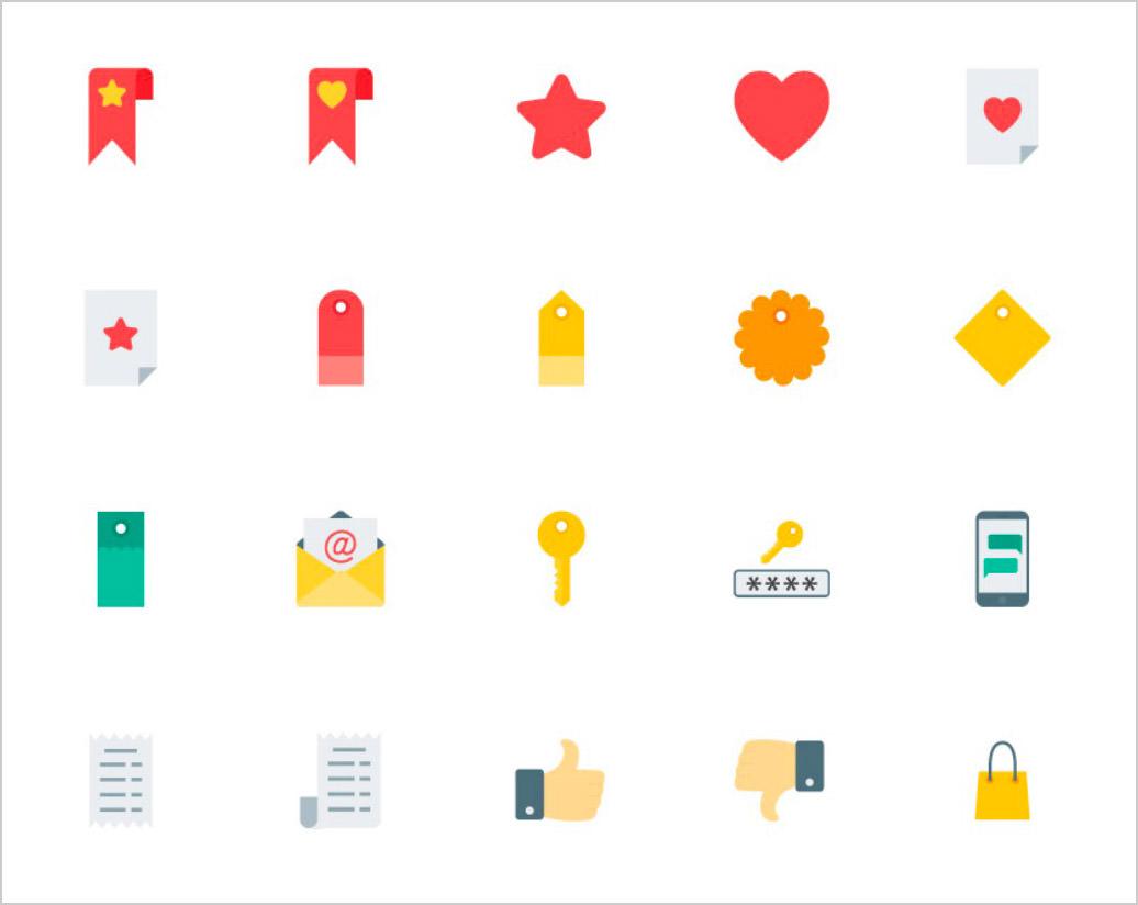 flat-ecommerce-icons