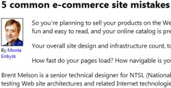 5 Common E-Commerce Site Mistakes