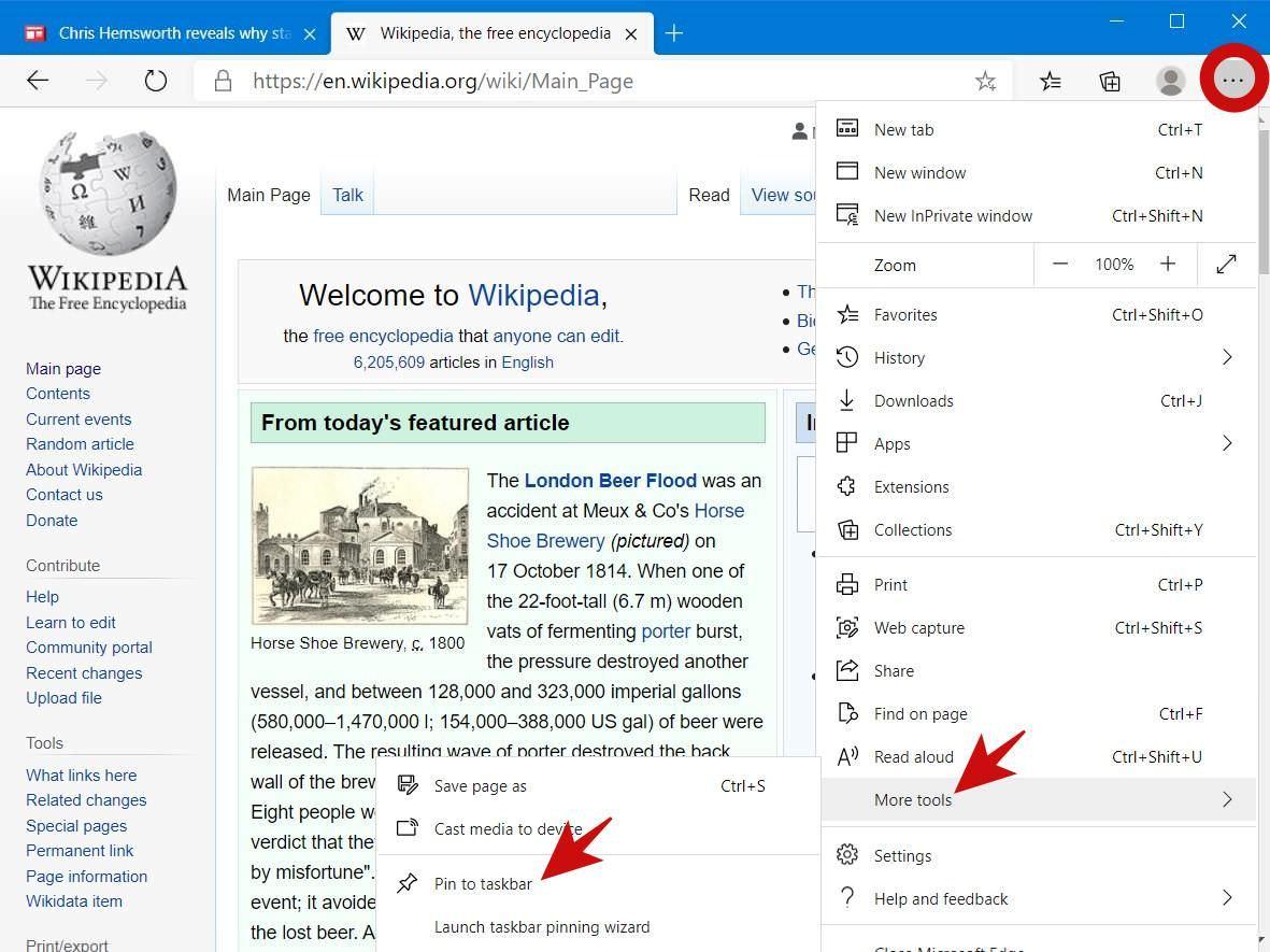 Pin a Web Page to Windows Taskbar