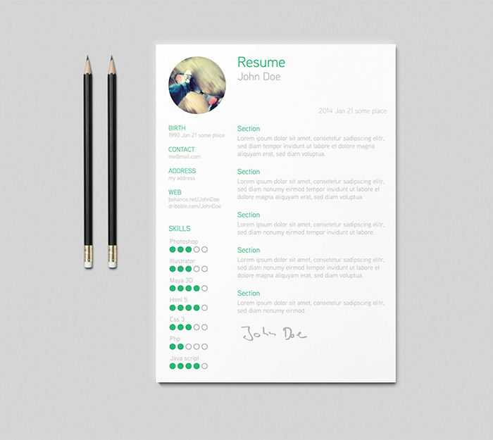 30 free beautiful resume templates to download hongkiat - Resume Template Download Mac