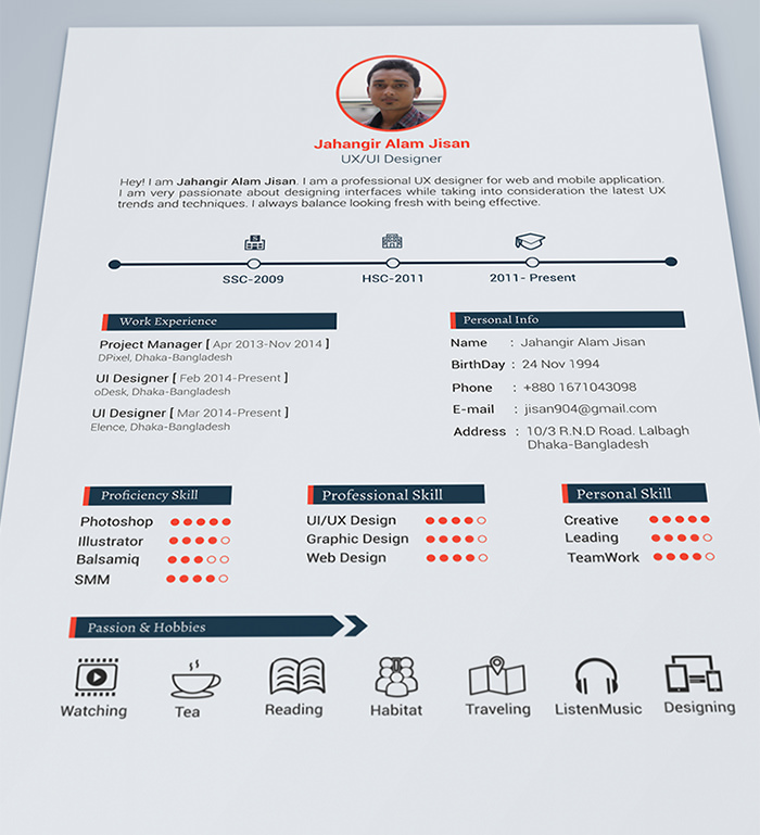 30 Free U0026 Beautiful Resume Templates To Download  Template For Resume Free