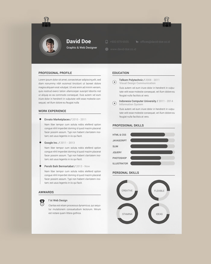 image muhamad reza adityawa - Beautiful Resume Template