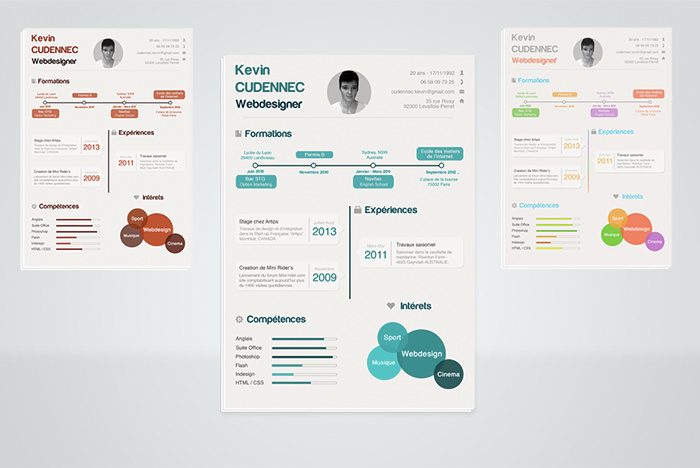 30 free beautiful resume templates to download hongkiat - Creative Resume Formats