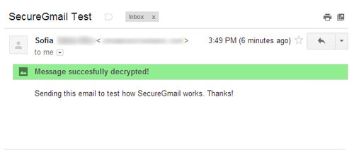 decrypted email