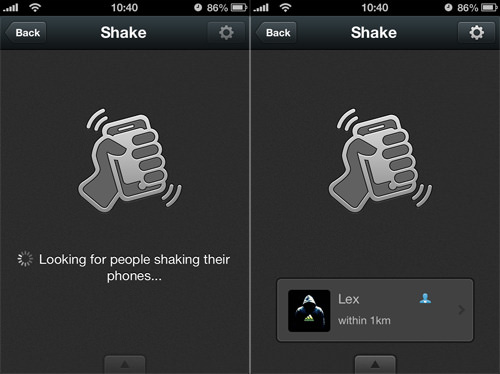 WeChat Shake