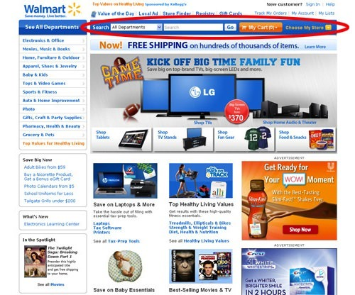 Walmart Search Box