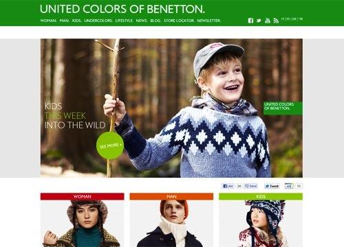 Benetton Social media Icons