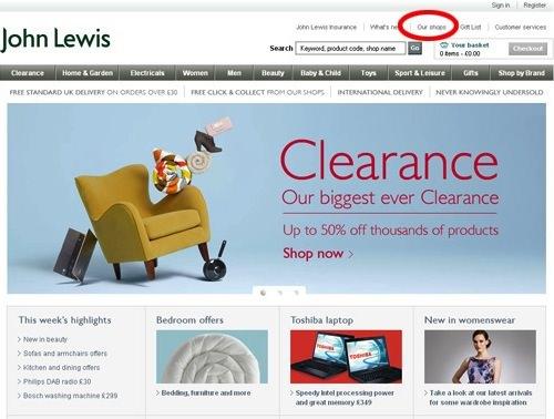 John Lewis Store Finder