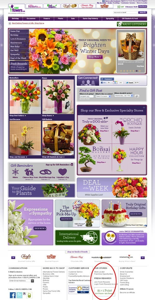 Flowers Store Finder