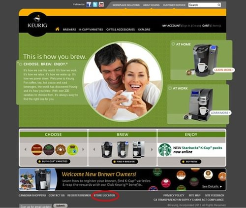 Keurig Store Finder