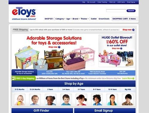 eToys Deals Section