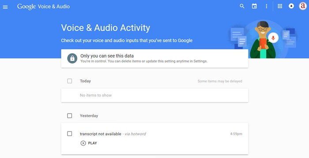 voice audio activity