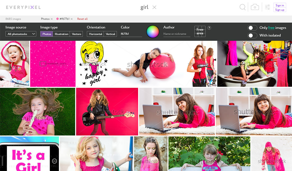 image search Everypixel photos
