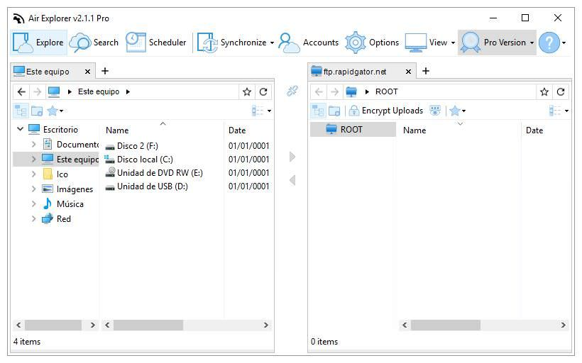 Air Explorer for File Explorer in Windows 10