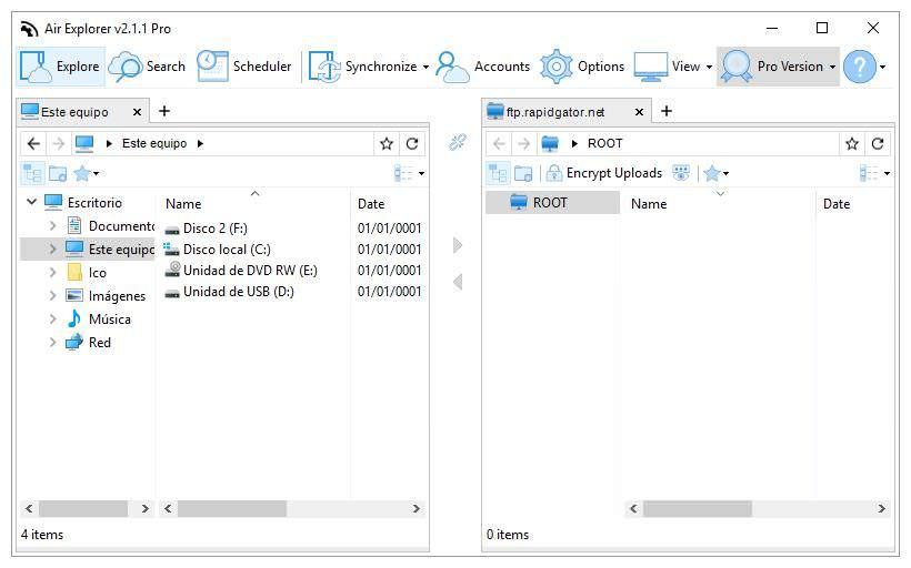 Air Explorer for File Explorer in Windows 10
