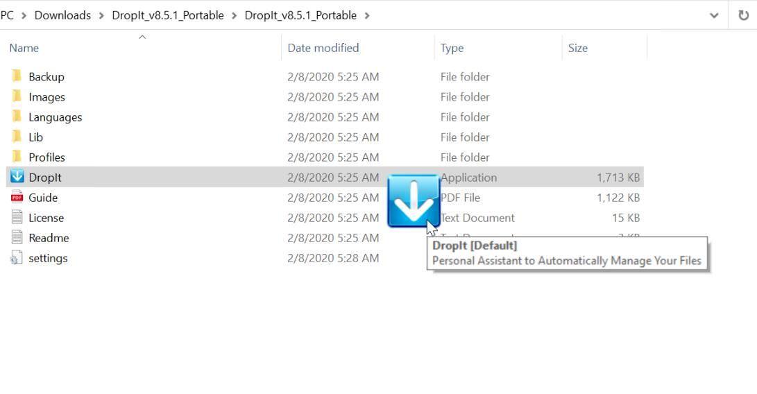 DropIt for File Explorer in Windows 10