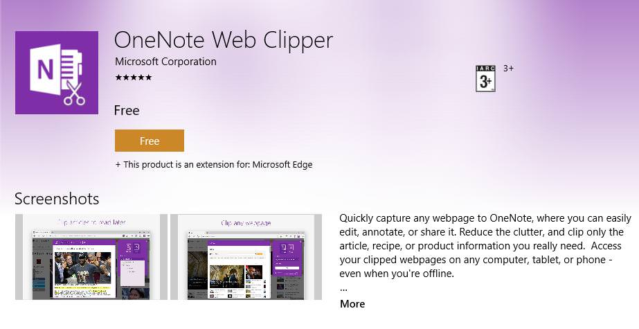OneNote WebClipper Extension