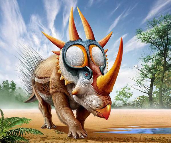 rubeosaurus roams a prehistoric environment