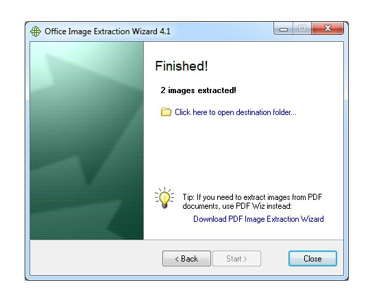 Finish Image Extraction