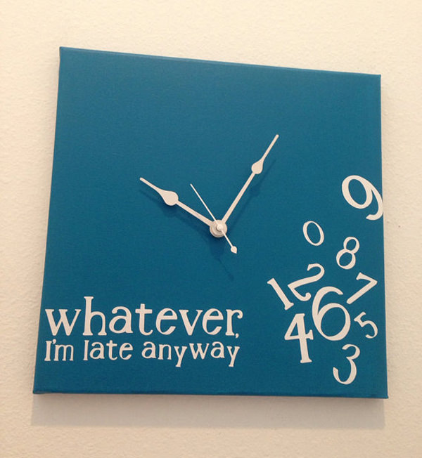 Whatever, I'm late