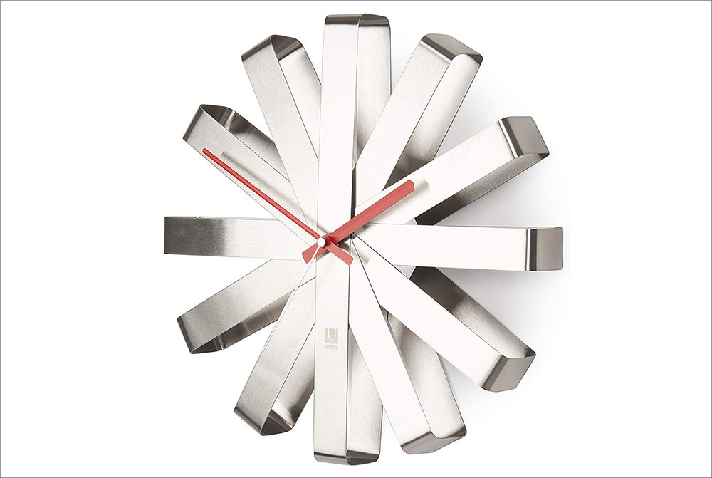 Umbra, Stainless Steel Ribbon Clock
