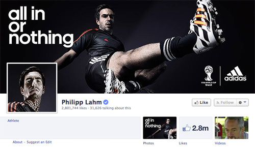 Facebook Philipp Lahm Page