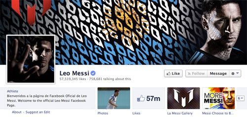 Facebook Leo Messi Page