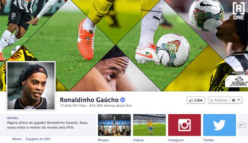 Facebook Ronaldinho Page