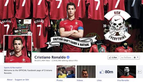 Faceboo Cristiano Ronaldo Page