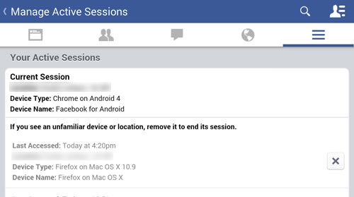 Force Loggout Any Of your Active Facebook Session