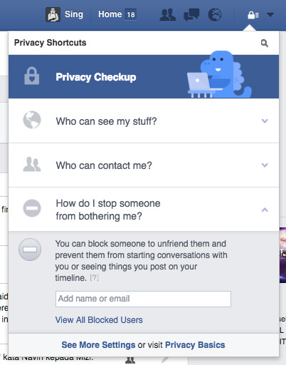 Facebook Privacy Block