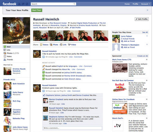 facebook layout